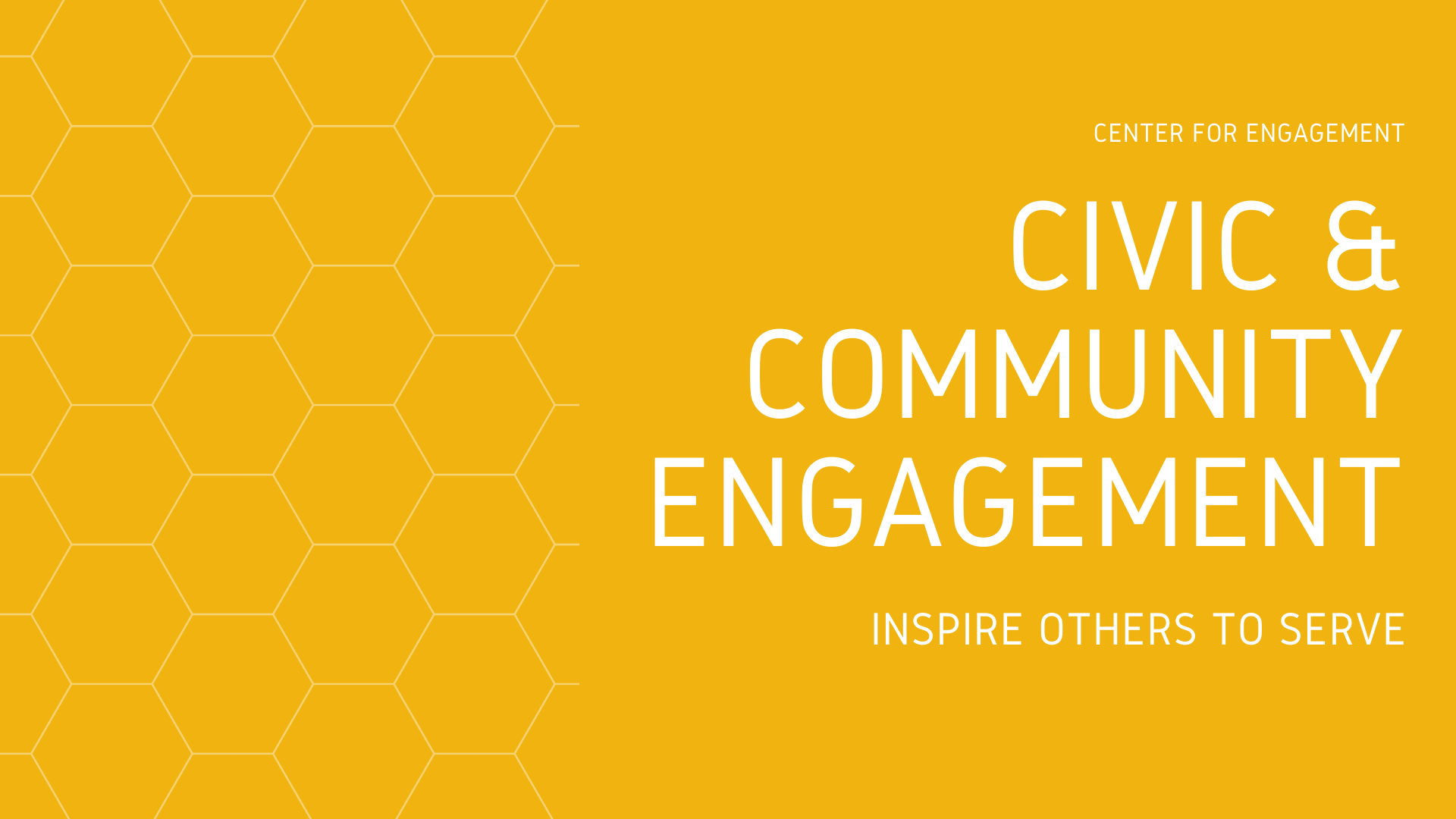 Community and Civic Engagement: Inspire Others to Serve