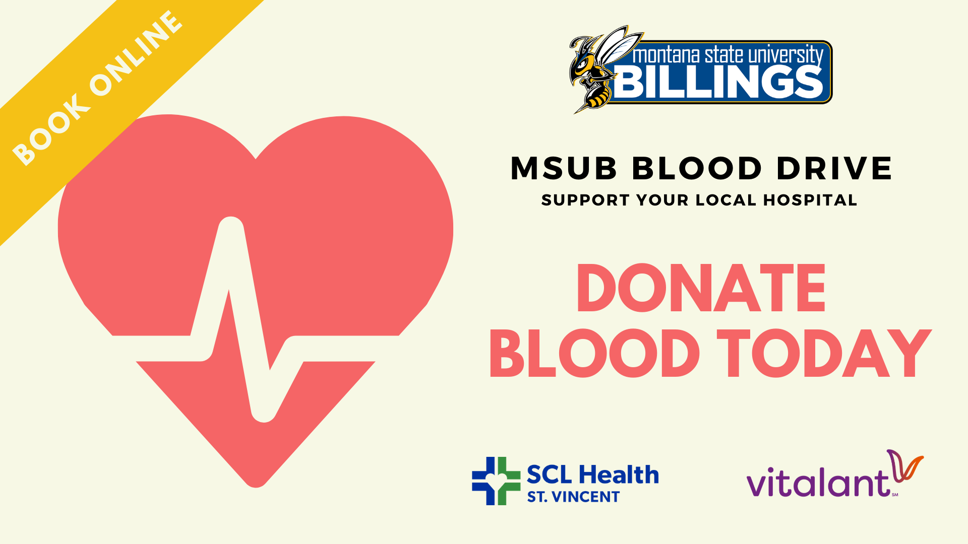 MSUB BLOOD DRIVE SUPPORT YOUR LOCAL HOSPITAL DONATE BLOOD TODAY BOOK ONLINE