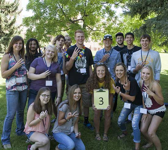 new MSUB students at summer orientation