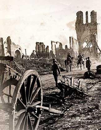 photo of devastation during World War 1