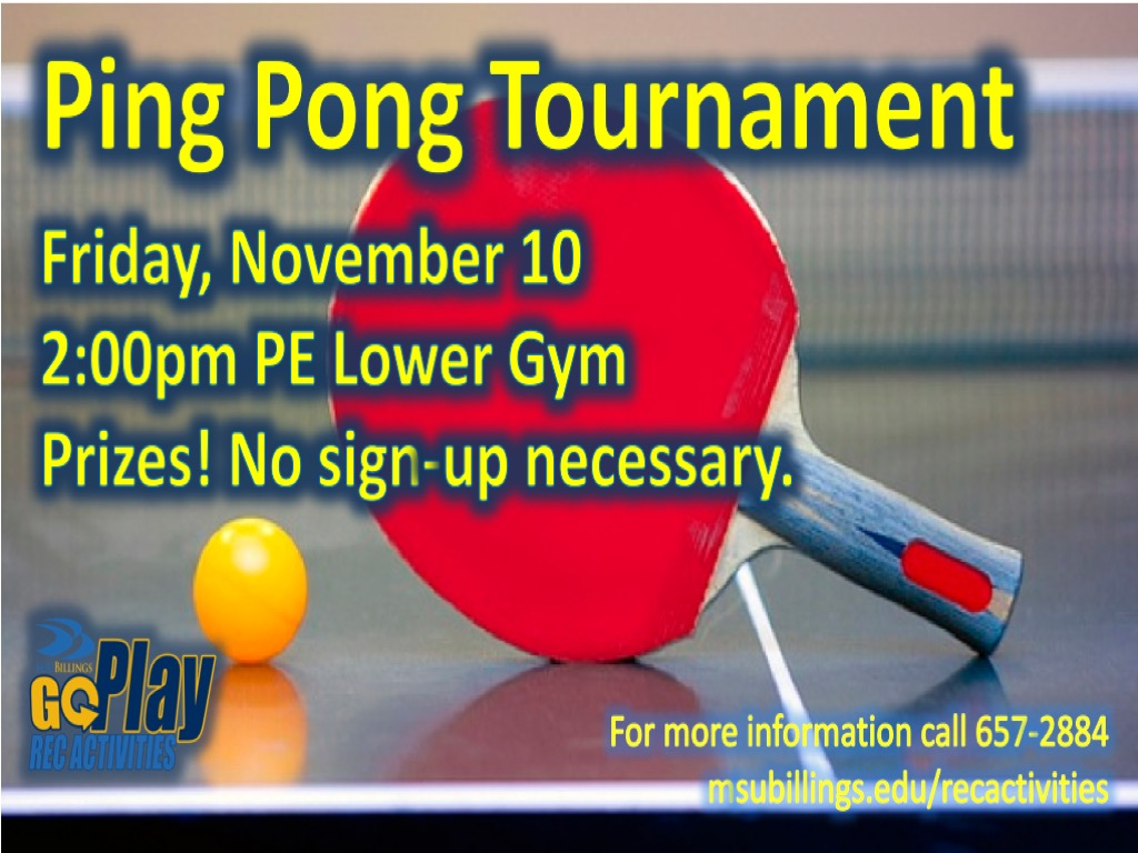 Fall 2017 Ping Pong Tournament