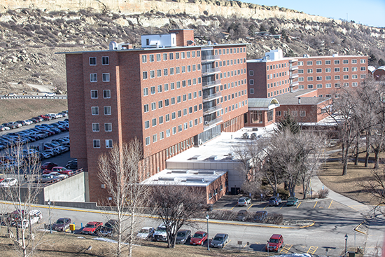 residence halls on the MSUB university campus