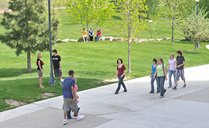 MSUB students on the University campus